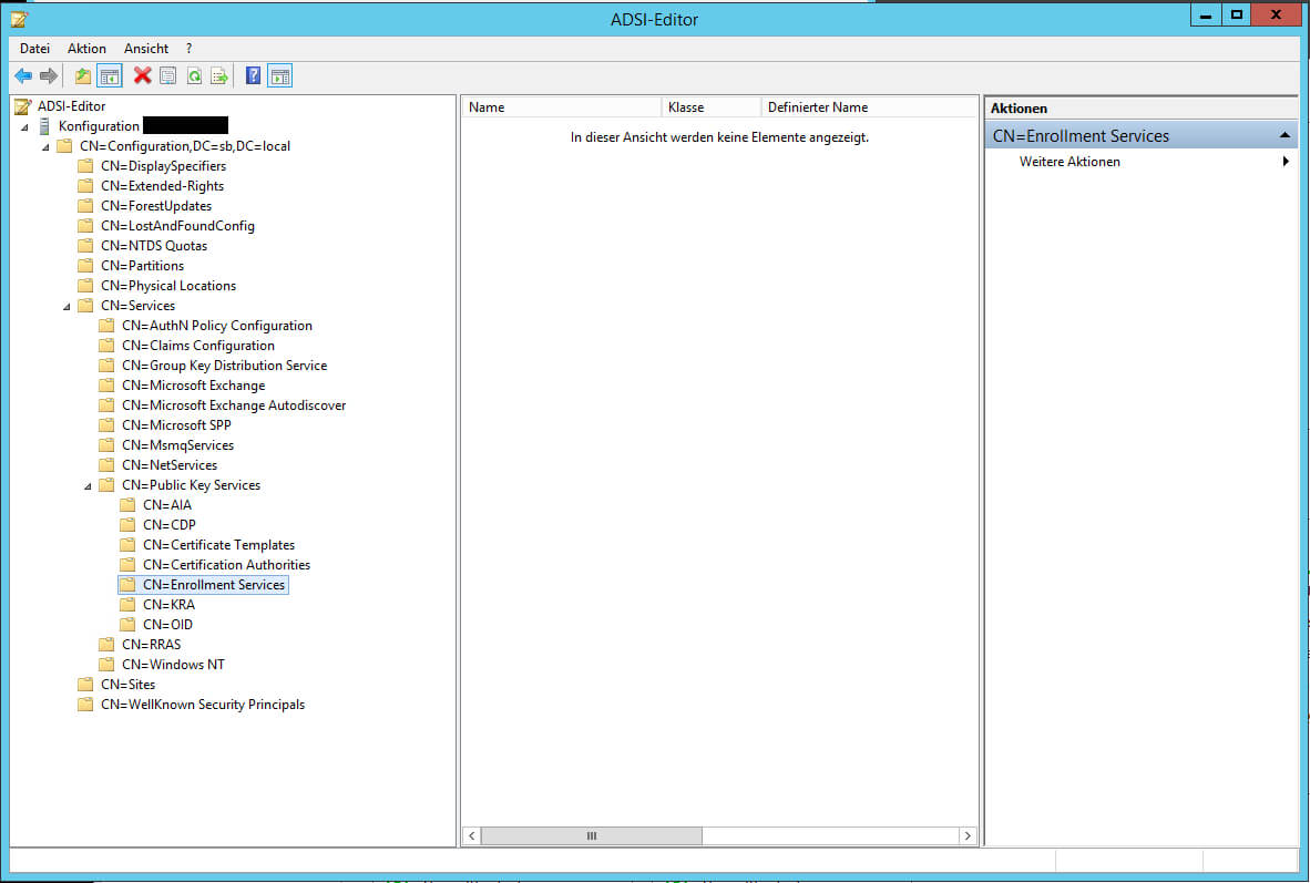 Windows Server 2012 R2 - Certificate Authority Does Not Show Pertaining To No Certificate Templates Could Be Found