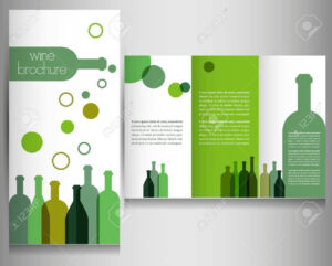 Wine Brochure Design Template Vector throughout Wine Brochure Template