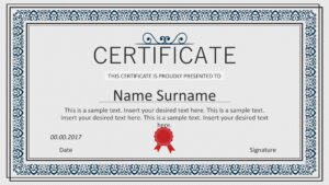Winner Certificate Powerpoint Templates throughout Winner Certificate Template