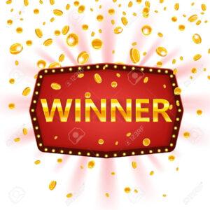 Winner Frame Label Banner Template. Win Congratulations Vintage.. in Congratulations Banner Template