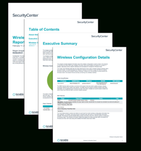 Wireless Configuration Report – Sc Report Template | Tenable® with It Support Report Template