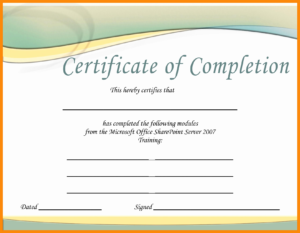 Word 2007 Certificate Template - Lara.expolicenciaslatam.co for Free Certificate Templates For Word 2007