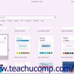 Word 2016 Tutorial Using Templates Microsoft Training For Training Manual Template Microsoft Word