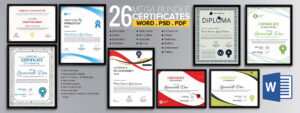 Word Certificate Template – 49+ Free Download Samples with Award Certificate Templates Word 2007