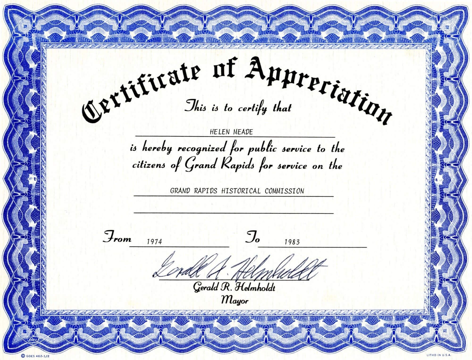 Word Document Certificate Templates Raffle Ticket Template With Regard To Certificate Of Appreciation Template Doc
