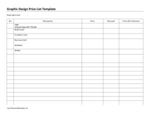 Word Price List Archives | Freewordtemplates throughout Proof Of Delivery Template Word
