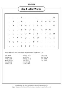 Word Search Puzzle Generator For Blank Word Search Template Free