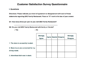 Word Survey Templates For Understanding Consumers And Context throughout Questionnaire Design Template Word