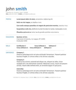 Word Template Via Bespoke Resumes. Clean & Simple, White Inside Microsoft Word Resumes Templates
