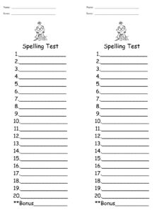 Words Their Way Spelling Test Template – Cakeb with regard to Words Their Way Blank Sort Template