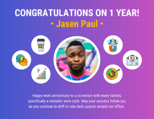 Work Anniversary Certificate Template Template – Venngage throughout Employee Anniversary Certificate Template