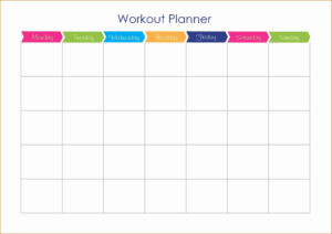 Workout Plan Calendar Template Workout And Yoga Pics within Blank Workout Schedule Template