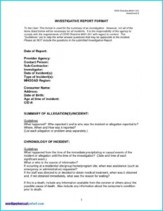 Workplace Gation Report Template Format Harassment Free regarding Workplace Investigation Report Template