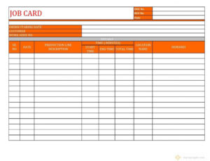 Workshop Job Sheet Template Automotive Card Download Car intended for Mechanic Job Card Template