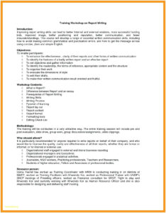 Workshop Template Sample – Wepage.co regarding After Training Report Template
