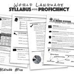 World Language Syllabus For Proficiency   Creative Language Inside Blank Syllabus Template