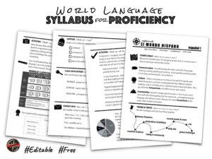 World Language Syllabus For Proficiency | Creative Language inside Blank Syllabus Template