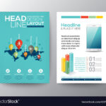 World Map And Pin Social Network Flyer Design Pertaining To Social Media Brochure Template