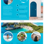 World Travel Tri Fold Brochure Template - Venngage for Island Brochure Template