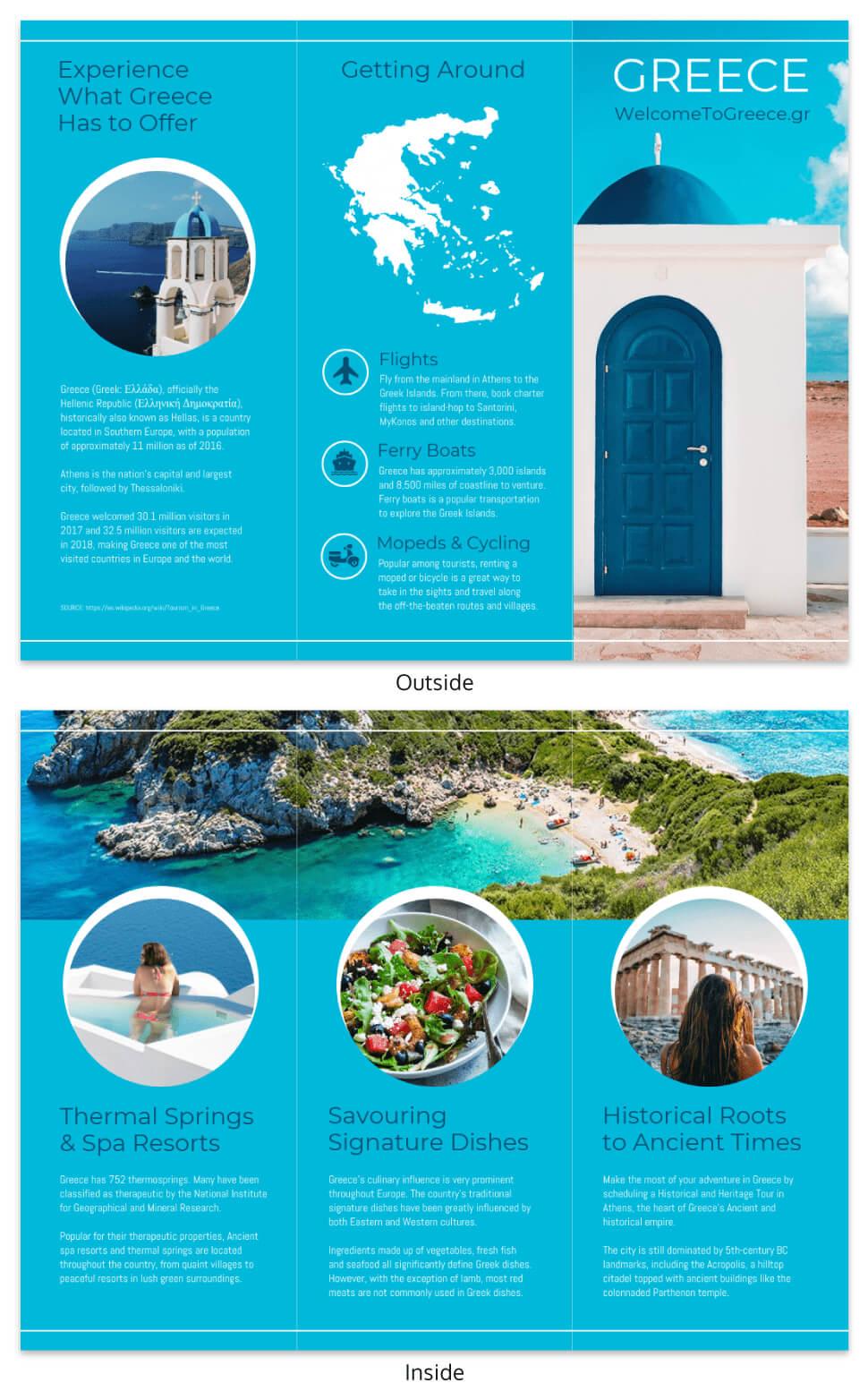 World Travel Tri Fold Brochure Template - Venngage For Island Brochure Template