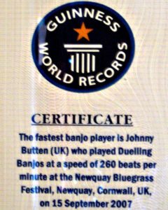 World's Fastest Banjo Picker Calls Minnesota Home | Mpr News regarding Guinness World Record Certificate Template