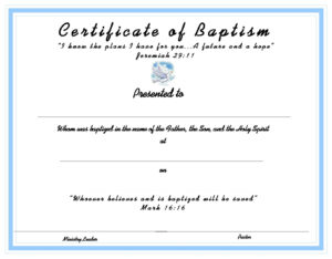 Www.certificatetemplate-Baptism Certificate For Your inside Baby Christening Certificate Template