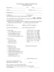 X Ray Form Chiropractic – Fill Online, Printable, Fillable with Chiropractic X Ray Report Template