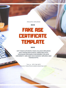 You Can Order Your Fake Ase Certificate Template On with regard to Ged Certificate Template