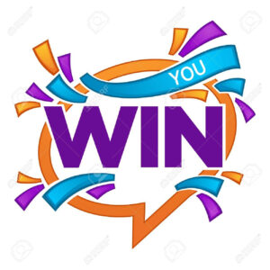 You Win , Vector Congratulation Banner Template With Speech.. for Congratulations Banner Template