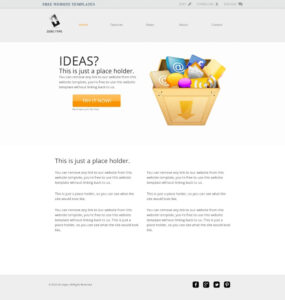 Zerotype A Blank Canvas Template – Web Template » All Free with regard to Blank Food Web Template