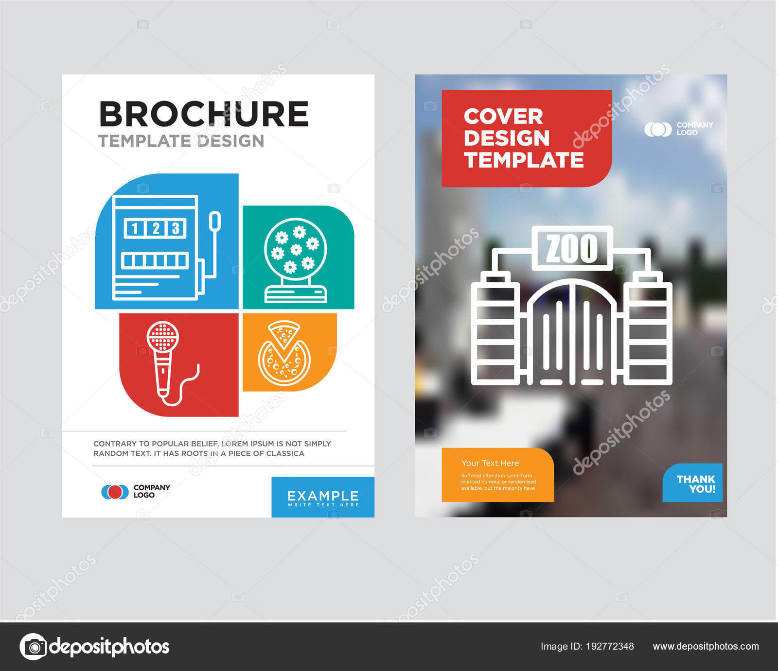 Zoo Brochure Flyer Design Template — Stock Vector For Zoo Brochure Template