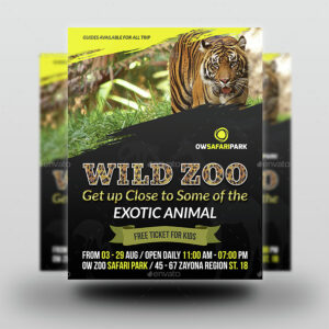 Zoo Flyer Template intended for Zoo Brochure Template