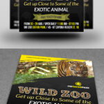 Zoo Flyer Template On Behance Pertaining To Zoo Brochure Template